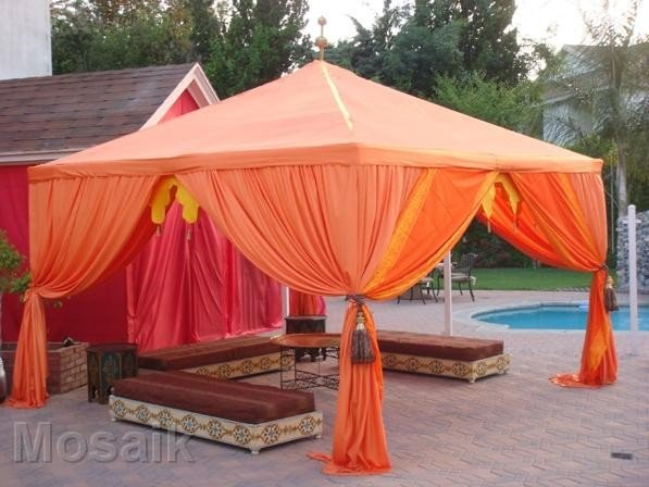 Henna Party Rentals : Moroccan tents drapping